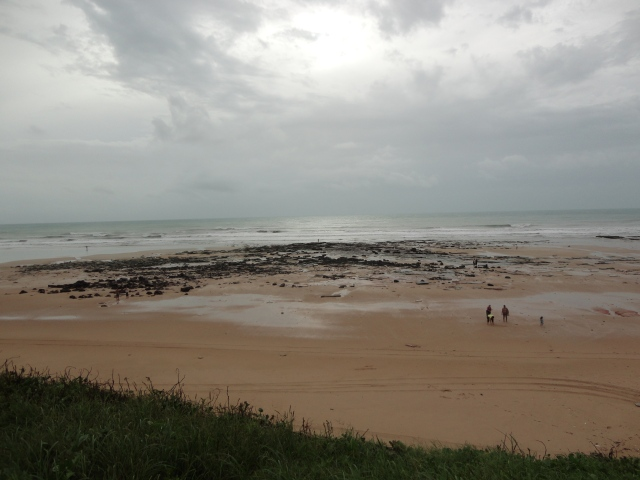 Cable Beach, Broome sand washed away, exposing Broome sandstone
