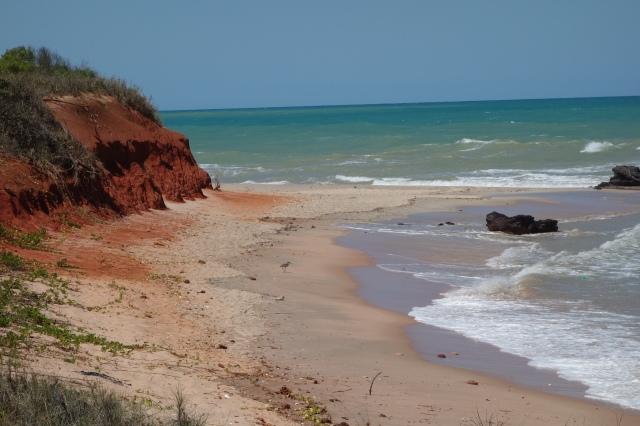 near Price's Point, pindan meets the ocean