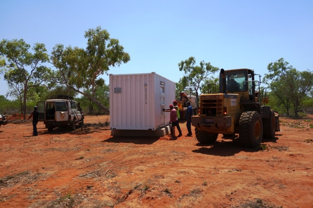 New ablution block being installed