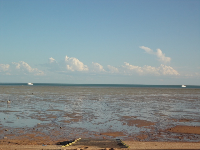 Tide's out, Roebuck Bay from Town Beach boat ramp
