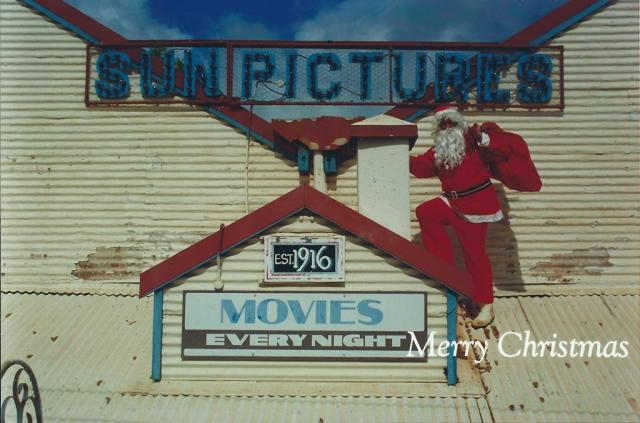 Santa at Sun Pictures in Broome