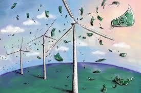 wind chopping up money